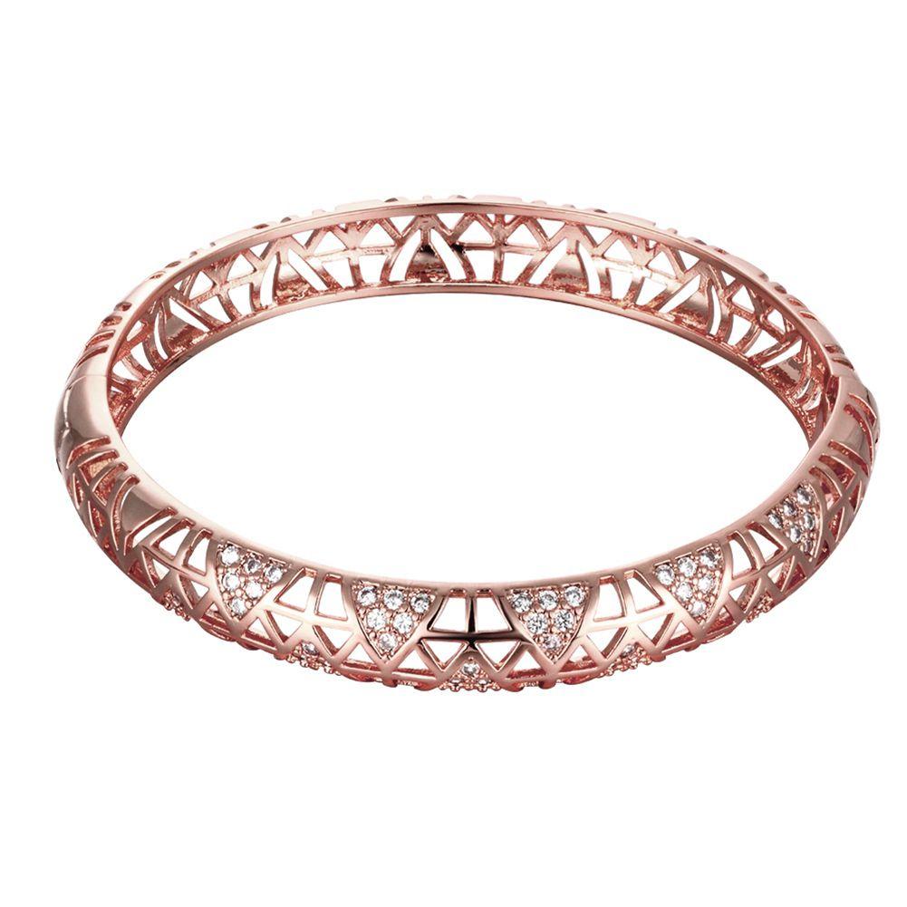 Click to buy ucuc womenus rose gold color zircon bracelet bangles