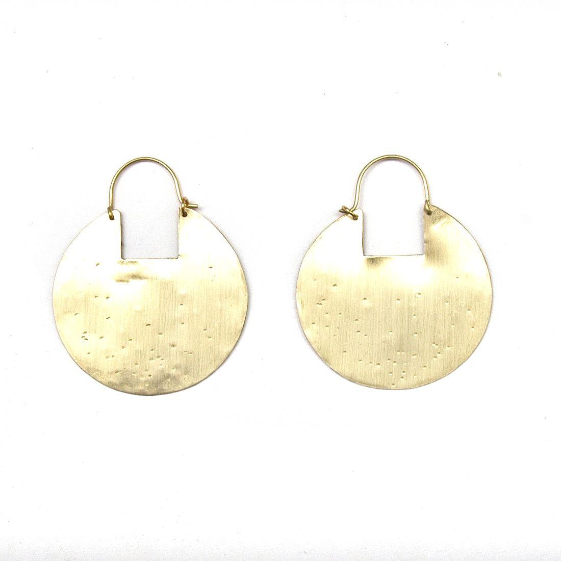 Full Moon Brass Earrings #brass #earrings #jewellery #giftsforher