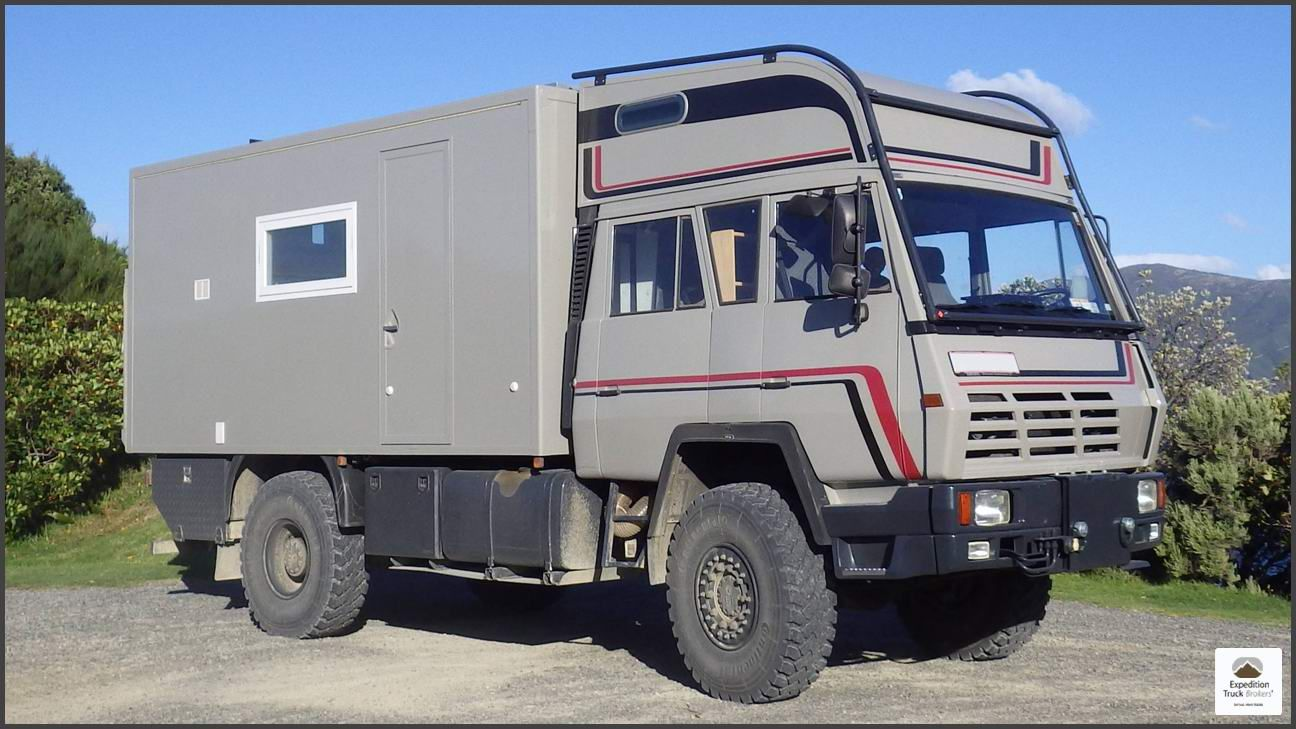Steyr Double Cabin 4x4 Expedition Truck with 4 fixed beds and large