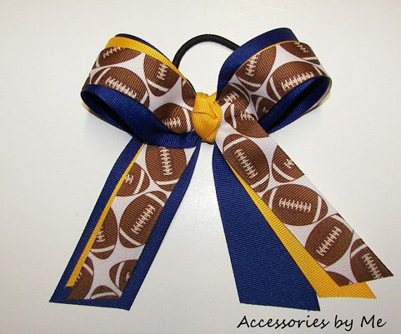 Chicago Bears Hair Bow /& Streamers