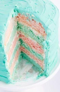 Layered Party Cake #cake #party #baking