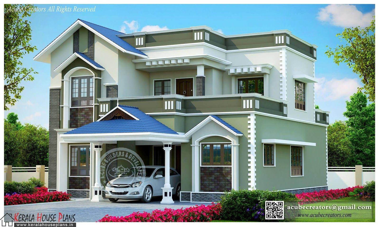 1800sqft Mixed Roof Kerala House Design Kerala House Plans Designs Floor Plans And Elevatio Kerala House Design Modern Small House Design Cool House Designs