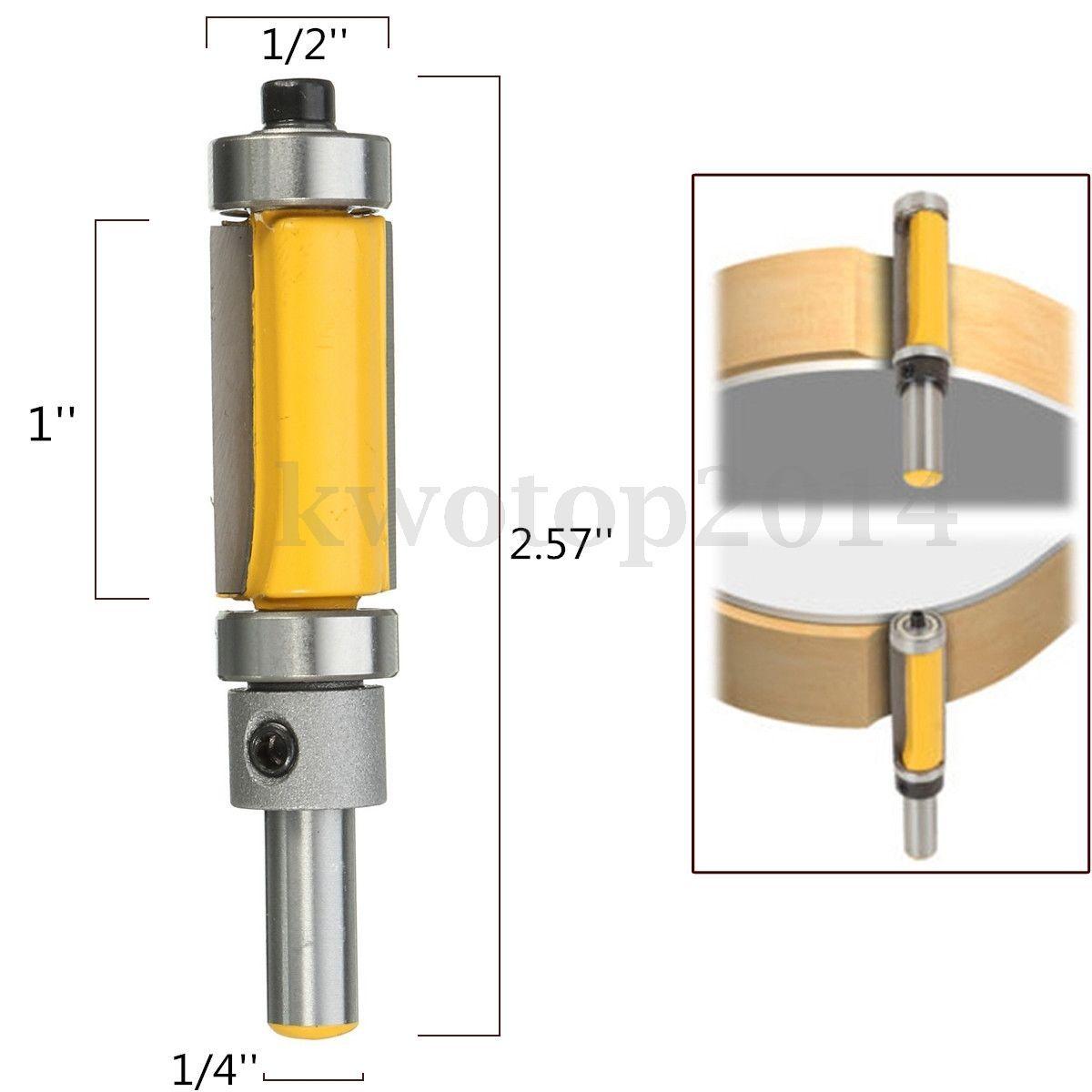 2 94 Pattern Flush Trim Top Router Bit 1 4 Shank 1 Cutter