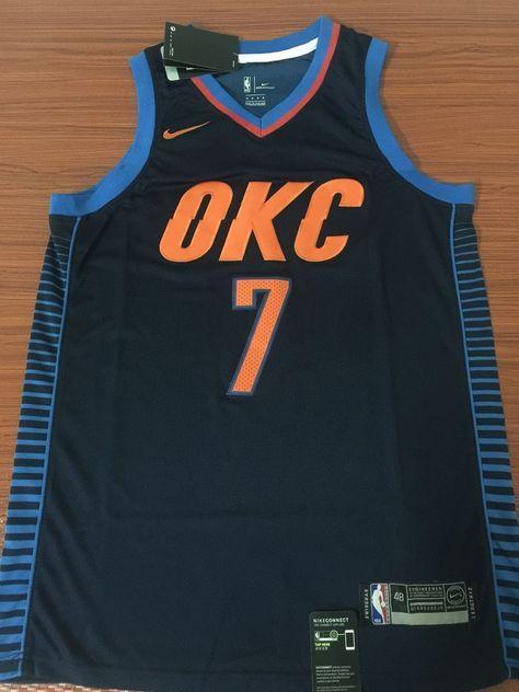 1670e006 Men 7 Carmelo Anthony Jersey Blue Oklahoma City Thunder Fanatics ...