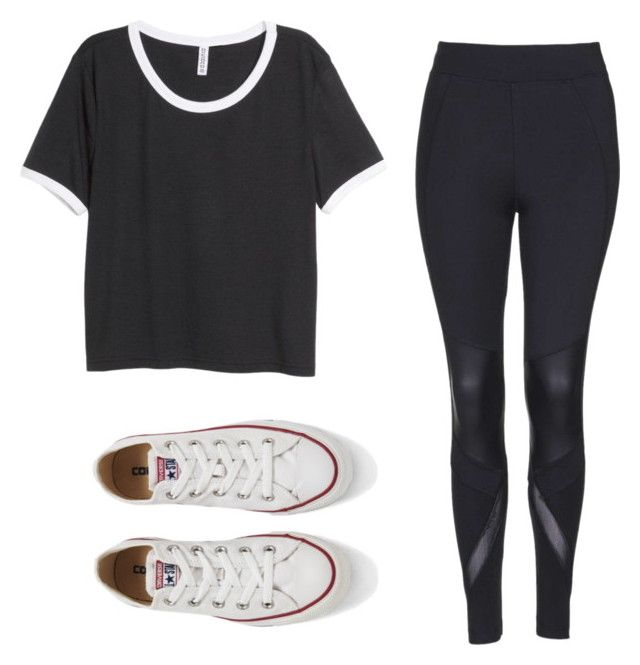 """""""Untitled #524"""" by kylanboykin ❤ liked on Polyvore featuring Topshop, H&M, Converse, women's clothing, women, female, woman, misses and juniors"""