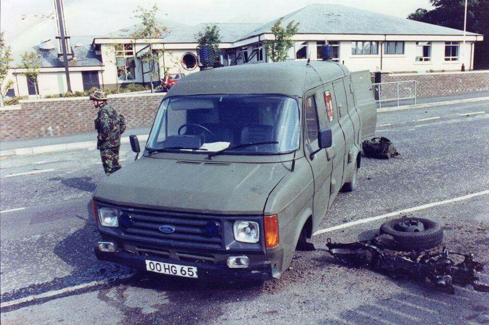 British Army Ford Transit Eod Vehicle Northern Ireland Op Banner Ford Transit Royal Engineers British Army