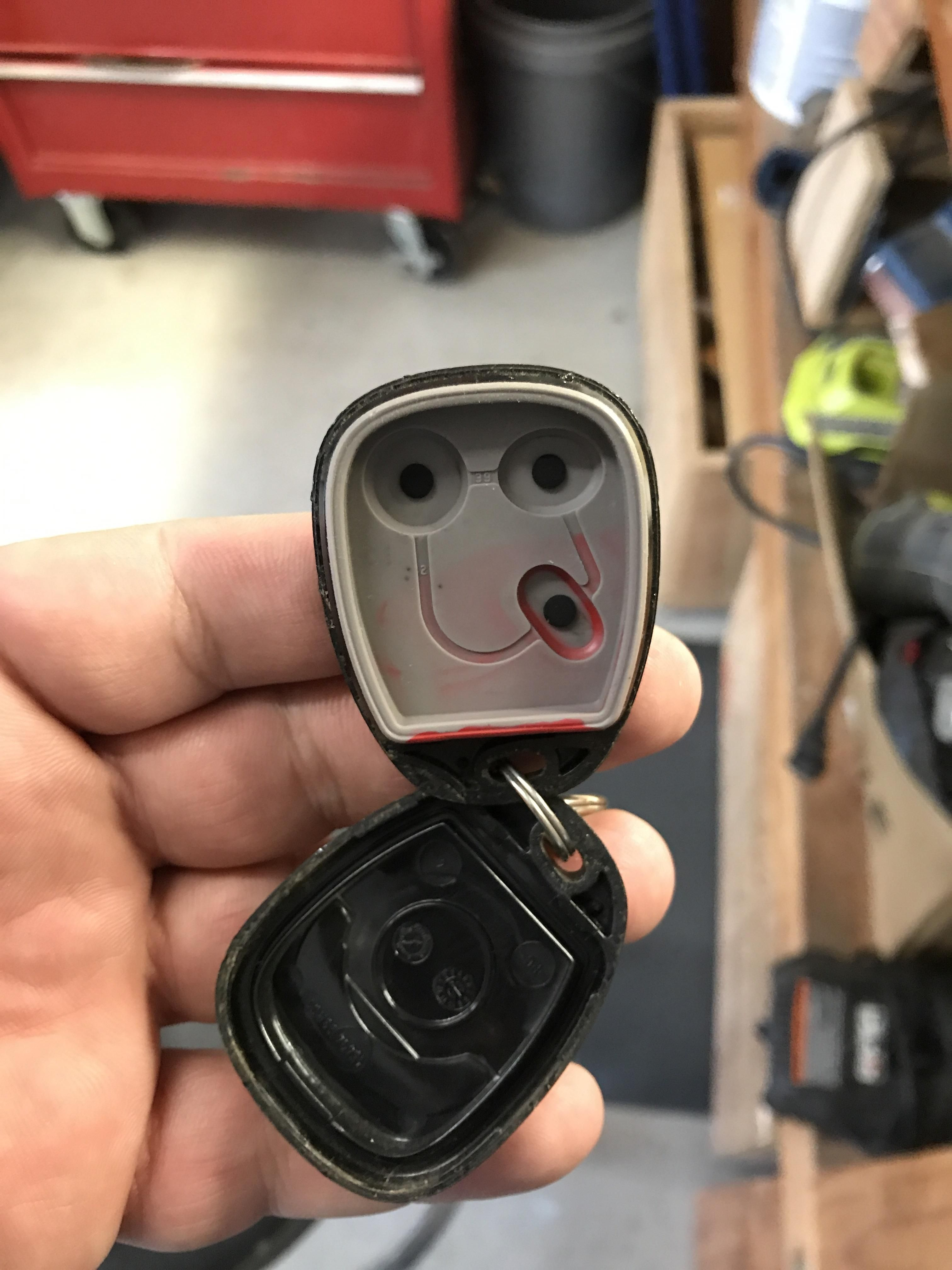 Changing The Battery In My Car Key Fob Found This Face Old Gmc