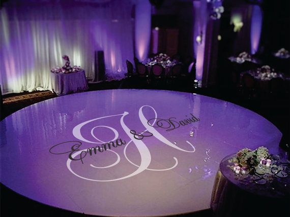 Wedding dance floor decal personalized wedding by signjunkies