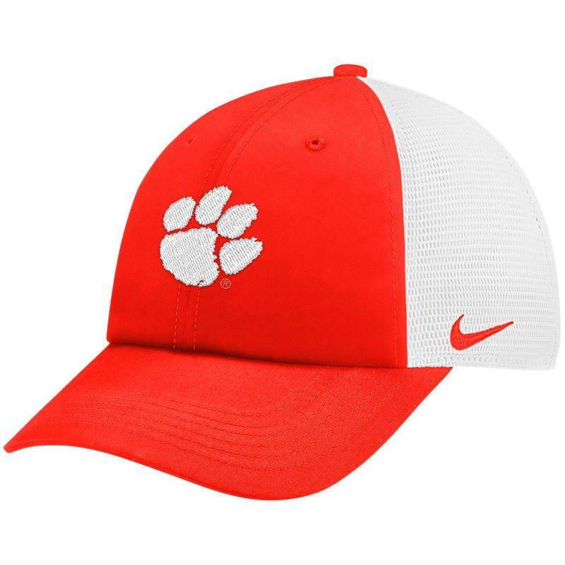 check out ef5d5 60fb0 Clemson Tigers Nike Trucker Adjustable Performance Hat – Orange White