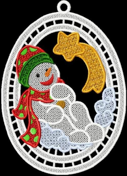 Fsl Snowman Sun Catcher 2 Embroidery Designs Embroidery And