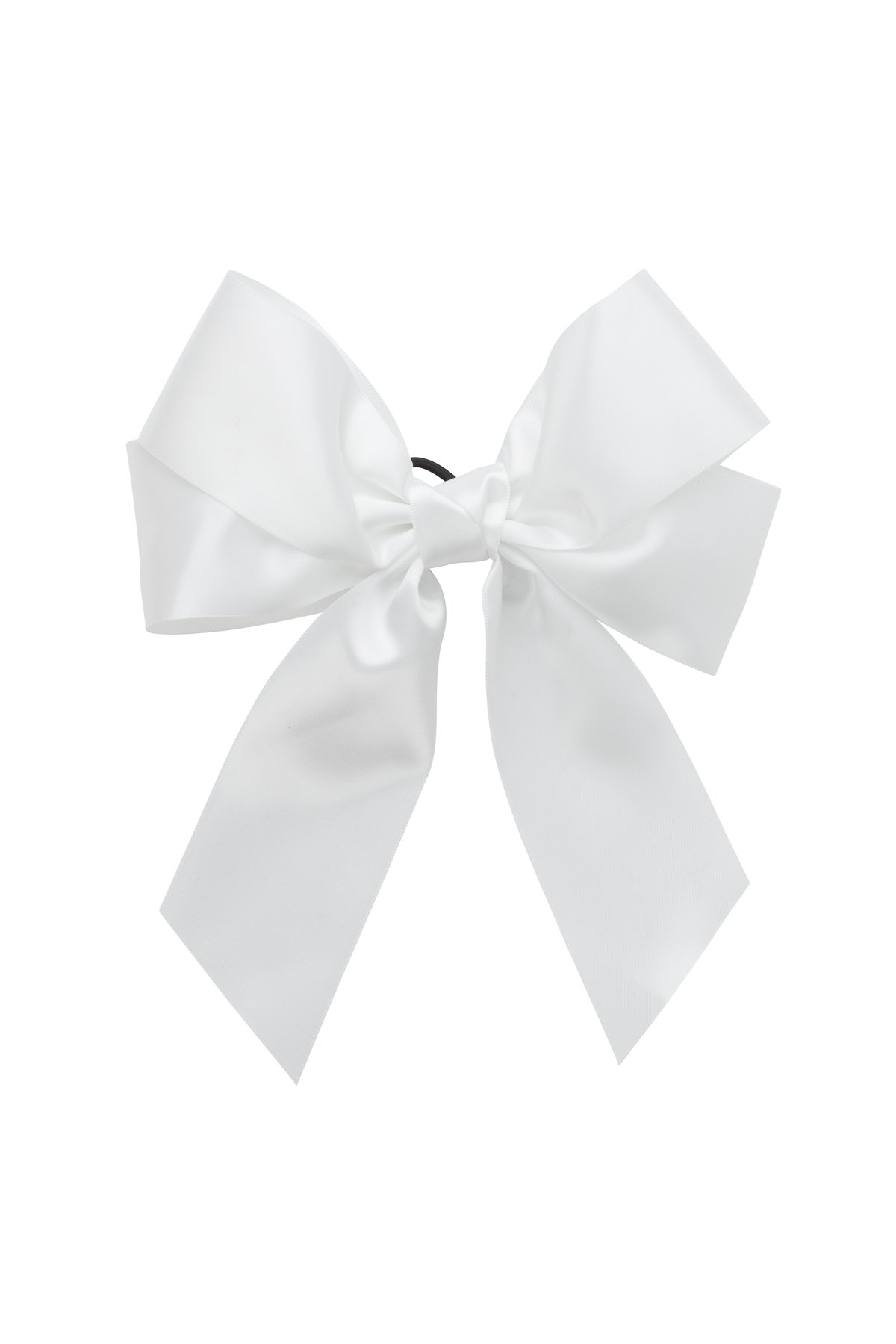 Oversized Bow Pony Clip White Bows Childrens Accessories Hard Headbands