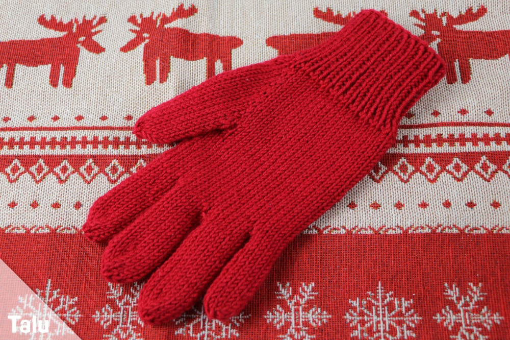 Photo of Knit gloves – free instructions for finger cots – Talu.de