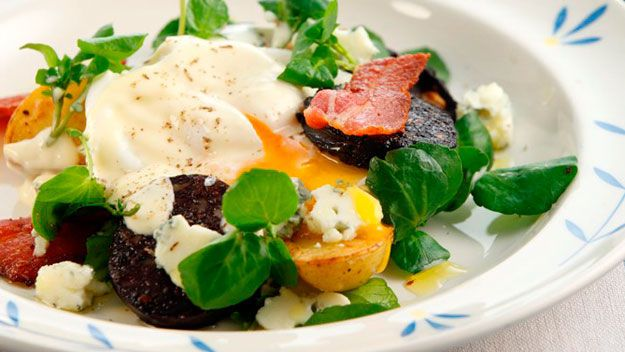 Warm Black Pudding Wicklow Cheese And Egg Salad Recipe