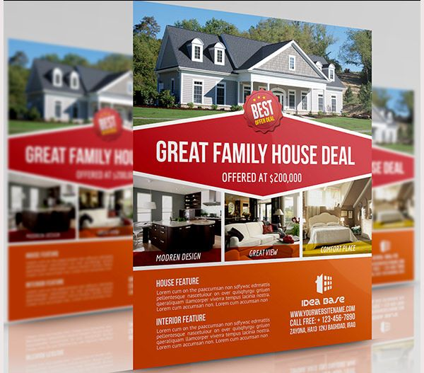 Real Estate Flyer Free Psd Dolapgnetband