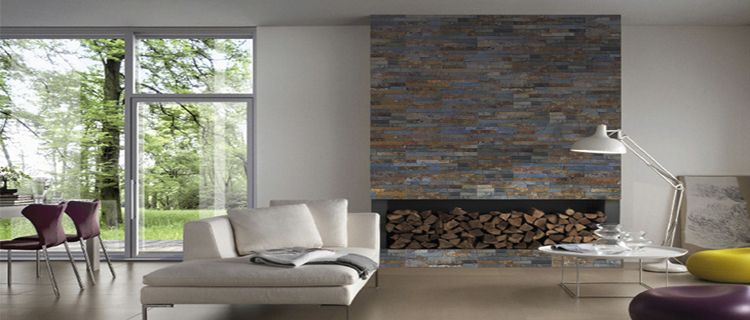 Relooker le salon avec des plaquettes de parement for Peinture murale ardoise