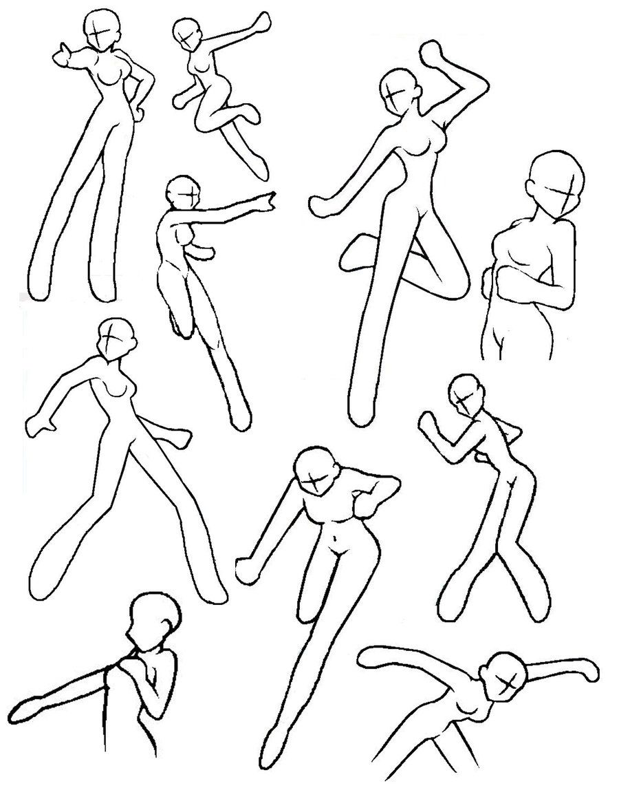 Female action poses by aliceazzo on deviantart