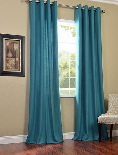 Turquoise Grommet Cotenza Curtain Panel Turquoise Curtains Curtains Living Room Curtain Decor