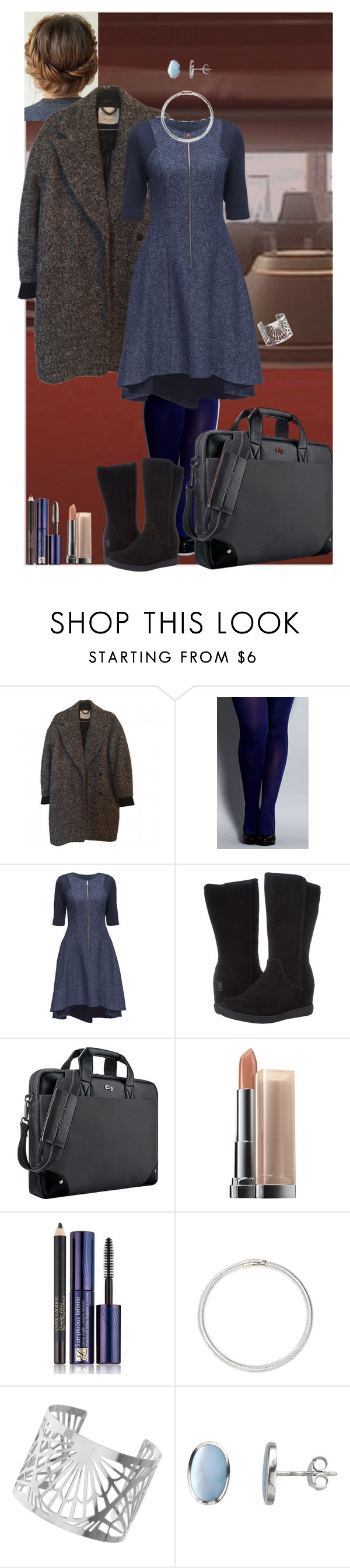 """""""Maia (work clothes)"""" by shulabond on Polyvore featuring Topshop, City Chic, Lattori, Skechers, Solo, Maybelline, Estée Lauder, Miss Selfridge and Nina B"""