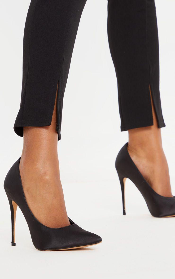 Black Satin Court Shoes | Court shoes
