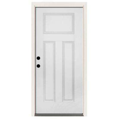 Single Door Exterior Prehung Steel Left Hand Outswing