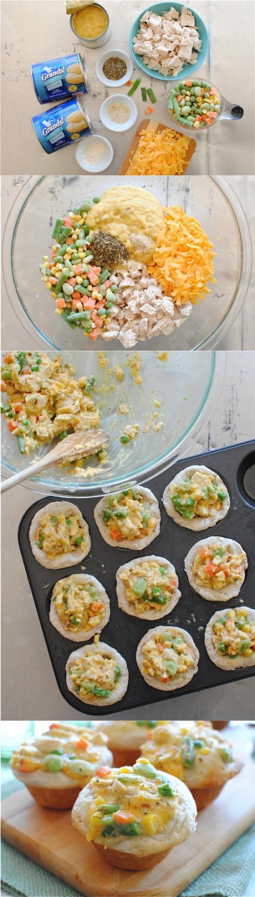 joysama images: Chicken Pot Pie Cupcake