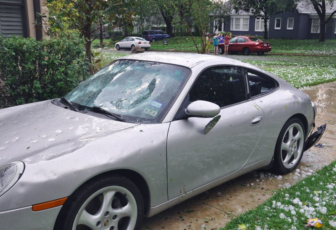 What Does Insurance Do With Hail Totaled Car