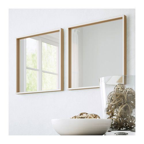 skogsv g mirror white beech veneer white beech veneer 15 3 4x15 3 4 the haven pinterest. Black Bedroom Furniture Sets. Home Design Ideas