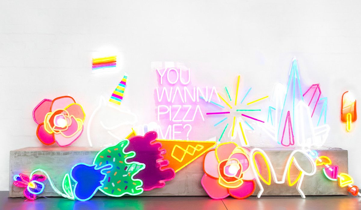 Electric Confetti Stunning Neon Art Pieces For The Interior