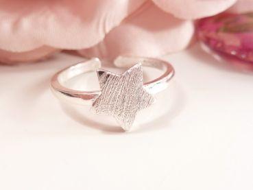 """Perlenschlösschen - 925 Sterling Silber Ring """"Du bist mein Stern"""""""