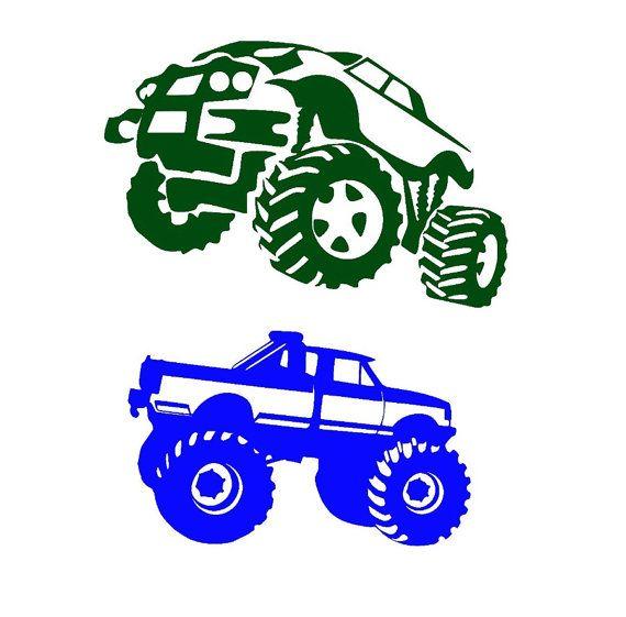 monster truck svg designs files for cricut by OhThisDigitalFun ...
