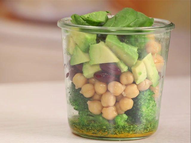 Fitness-Salat zum Mitnehmen - so geht's #veganermaulwurfkuchen