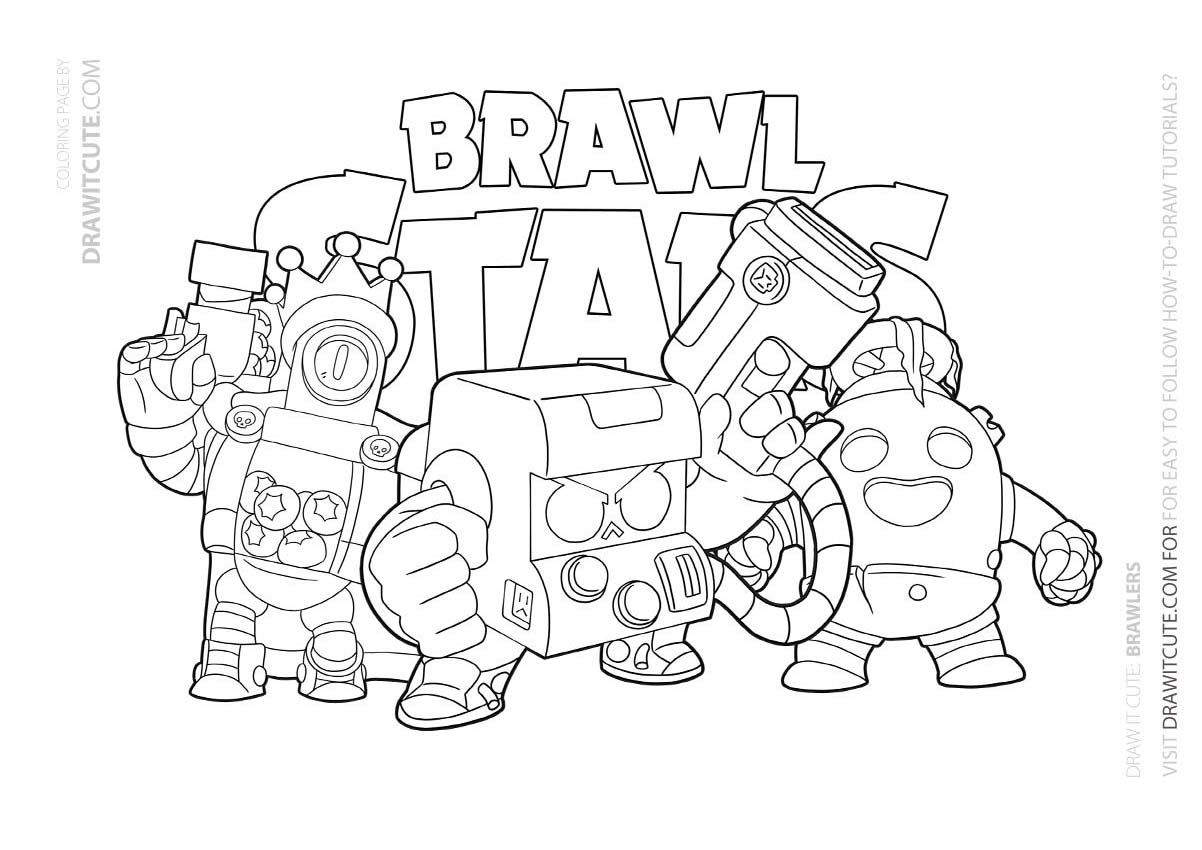 Brawler Brawl Stars Coloring Page Color For Fun Star Coloring Pages Coloring Pages Cool Coloring Pages