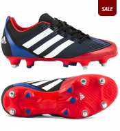 47b68ab20 Adidas AdiZero RS7 III TRX Soft Ground Rugby Boots in Hi Res Red  Running  Blue