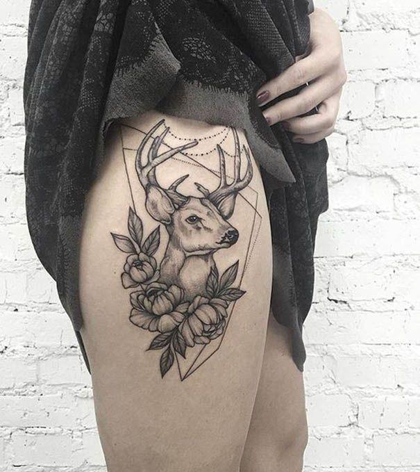 sch ne rotwild tatowierungs ideen 2018 tattoo pinterest hirsch tattoo tattoo f r frauen. Black Bedroom Furniture Sets. Home Design Ideas