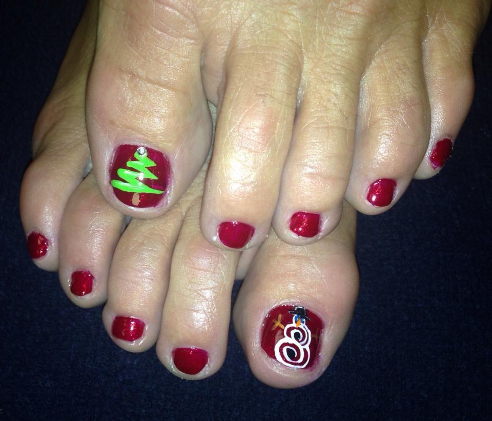 Christmas Toe Nails My Style Pinterest Christmas Nails