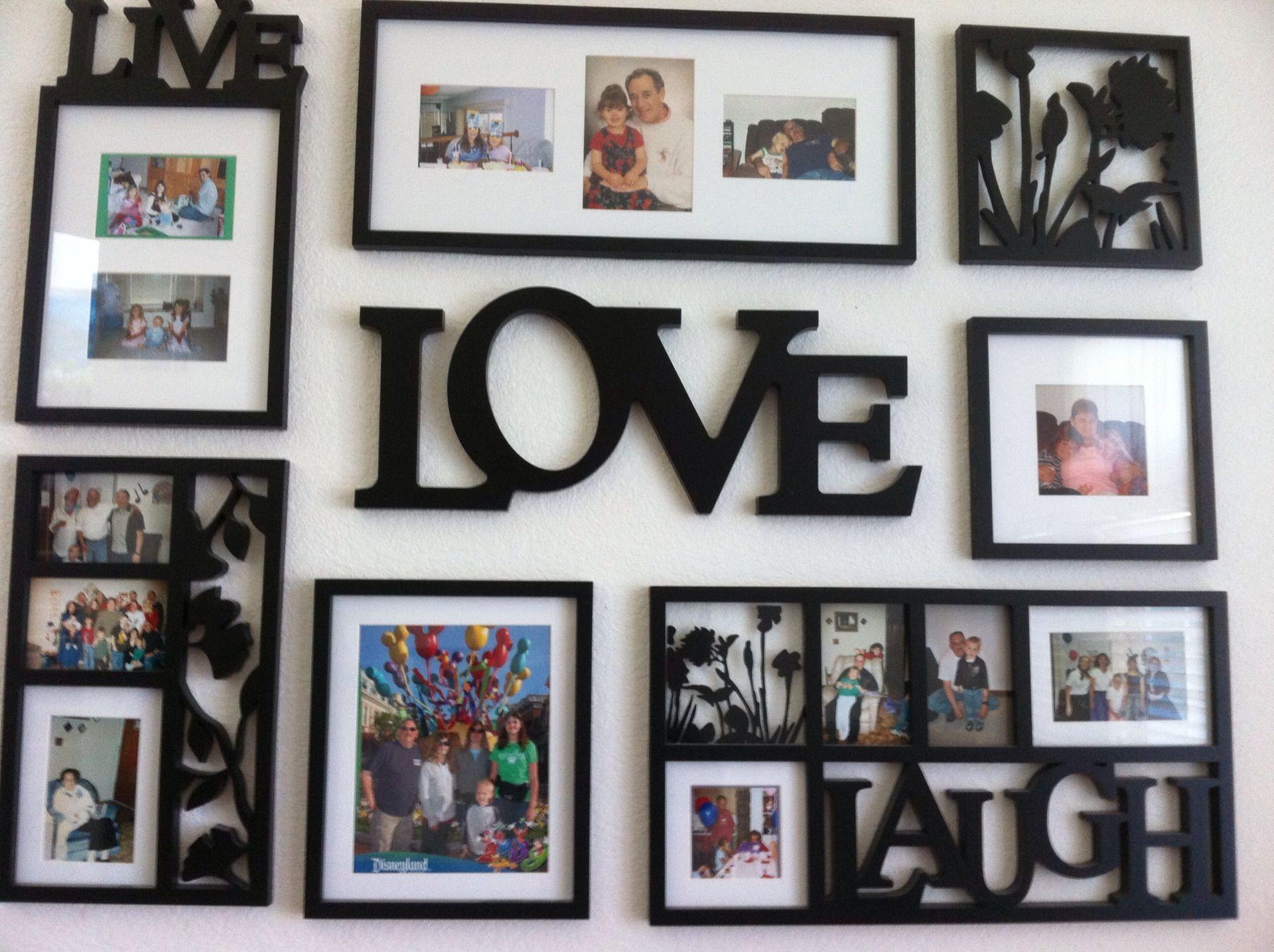 Live Laugh Love Photo Frames Home Wall Frame Set