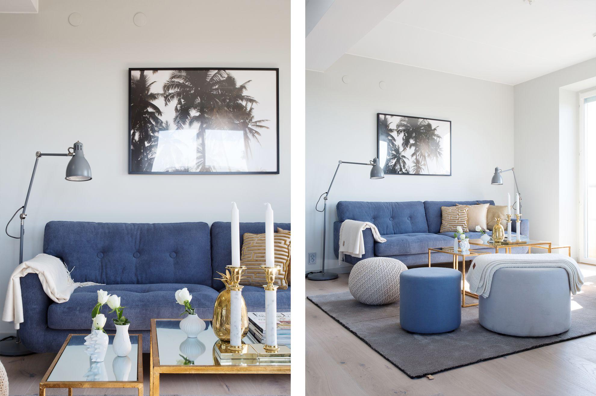 blå soffa Sök på Google Vardagsrum Pinterest