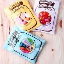 10 шт./лот конфеты мешок испечь печенье упаковке новогоднее украшение self-пластиковые пластиковые пакеты печенья мешок(China (Mainland))