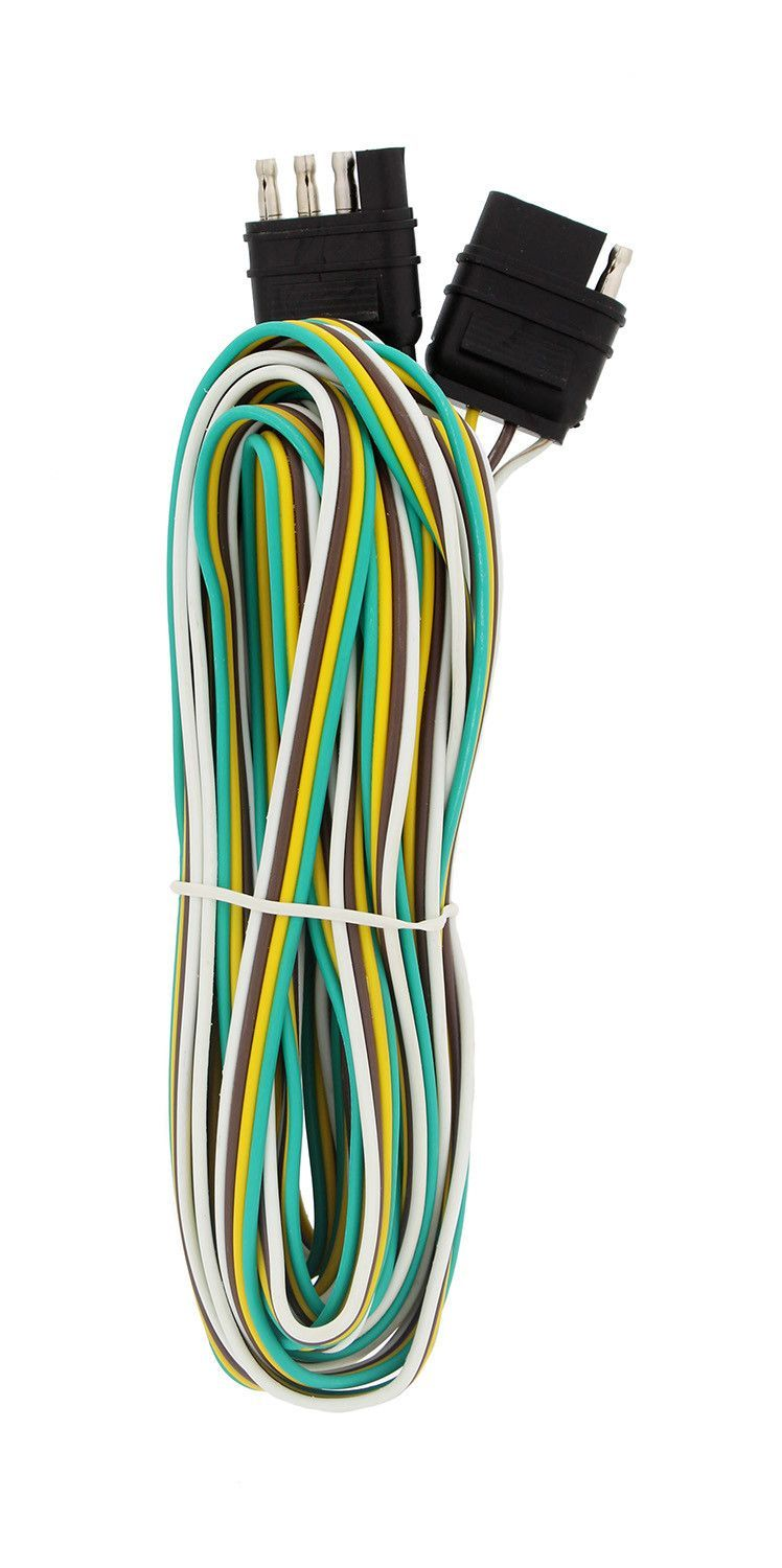 Trailer Wire Extension, 4-Way 4-Pin Plug Flat Trailer Wiring Harness ...