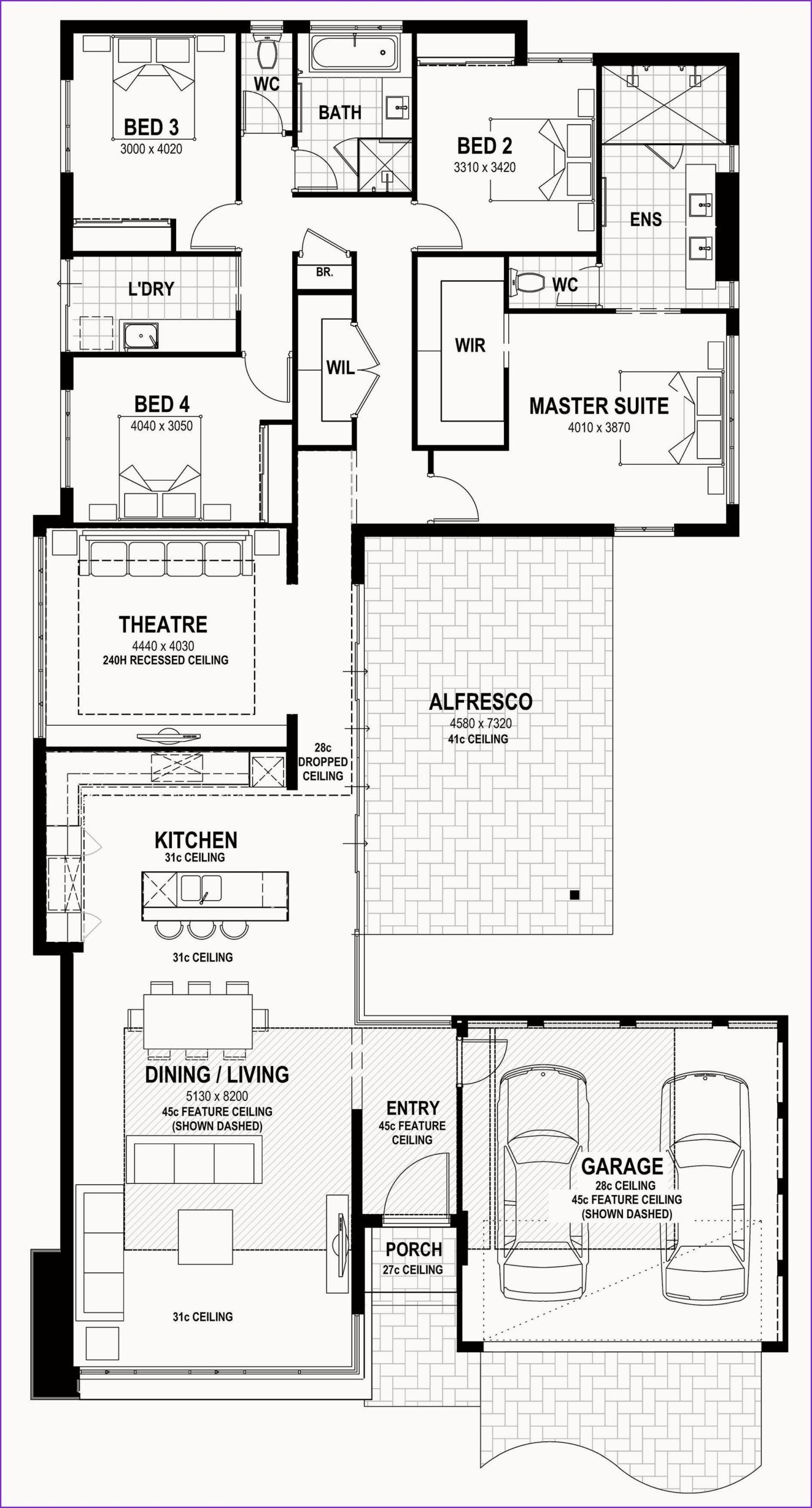 Pretty Houses Narrow House Plans House Floor Plans New House Plans