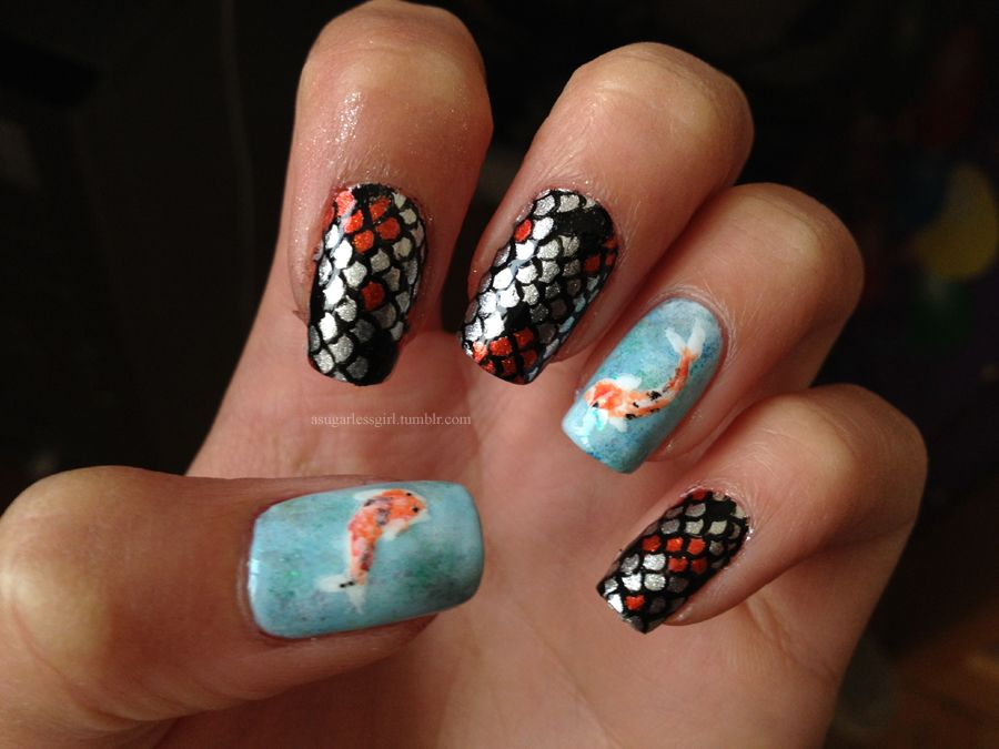 Pin by Kathy Grim on Nails | Pinterest | Koi and Makeup