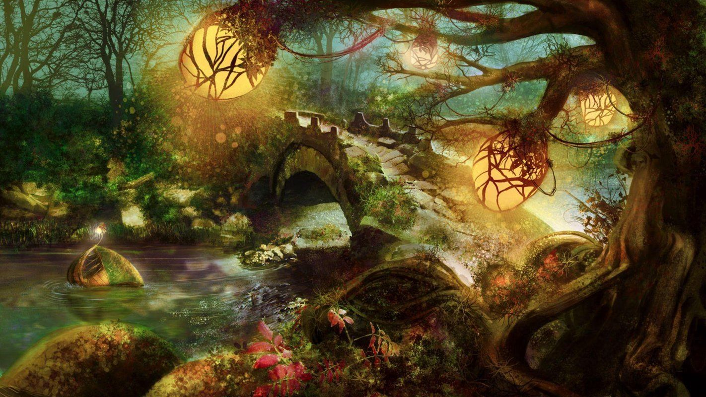 Magic Forest HD Live Wallpaper apk imagem de tela