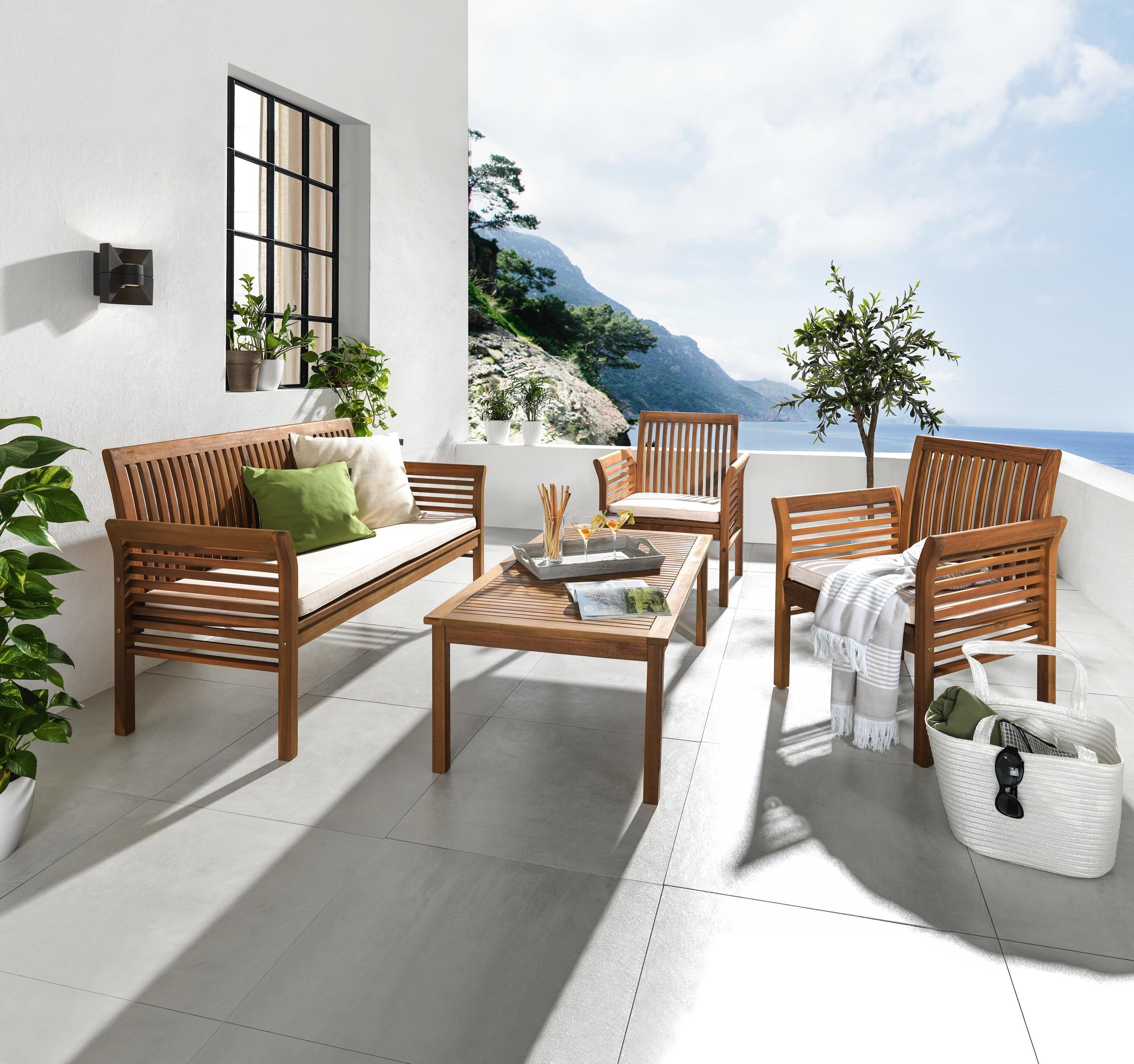Zeitlose Gartenmöbel: Sessel, Bank und Tisch für Ihren Garten ...