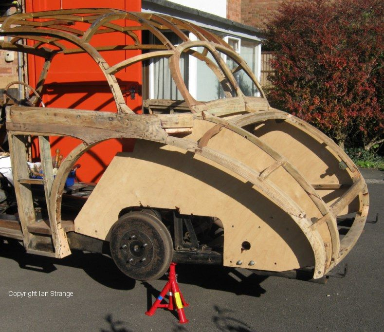 AC 2 LITRE SALOON wood frame after many hours of restoration. Not ...