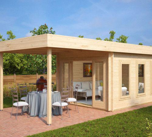 modernes gartenhaus aus holz mit terrassendach jacob e gartenideen pinterest gartenh user. Black Bedroom Furniture Sets. Home Design Ideas