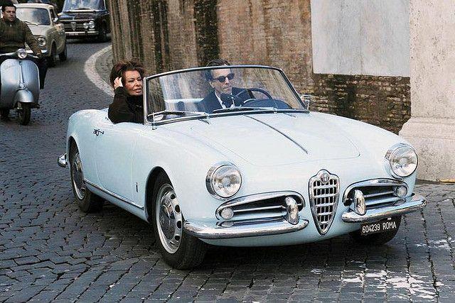 Sophia Loren And Daniel Day Lewis On Alfa Romeo Alfa Alfa Romeo