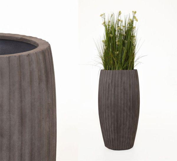 Große Pflanzkübel: Eleganz in Fiberglas, hoch glänzend oder strukturiert