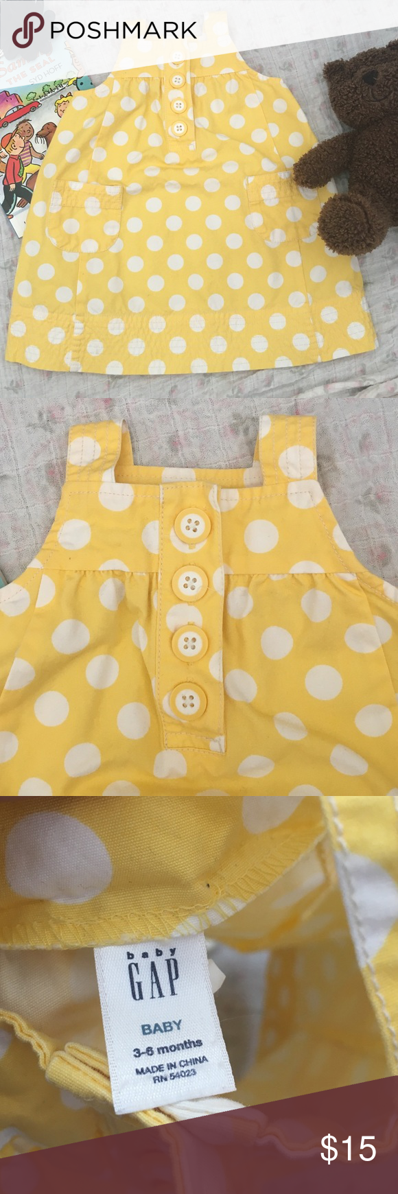 Yellow dress 3-6 months  Baby GAP yellow dress