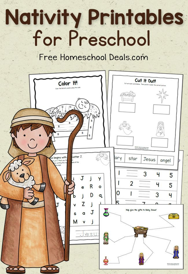 FREE PRESCHOOL NATIVITY PRINTABLES (Instant Downloads