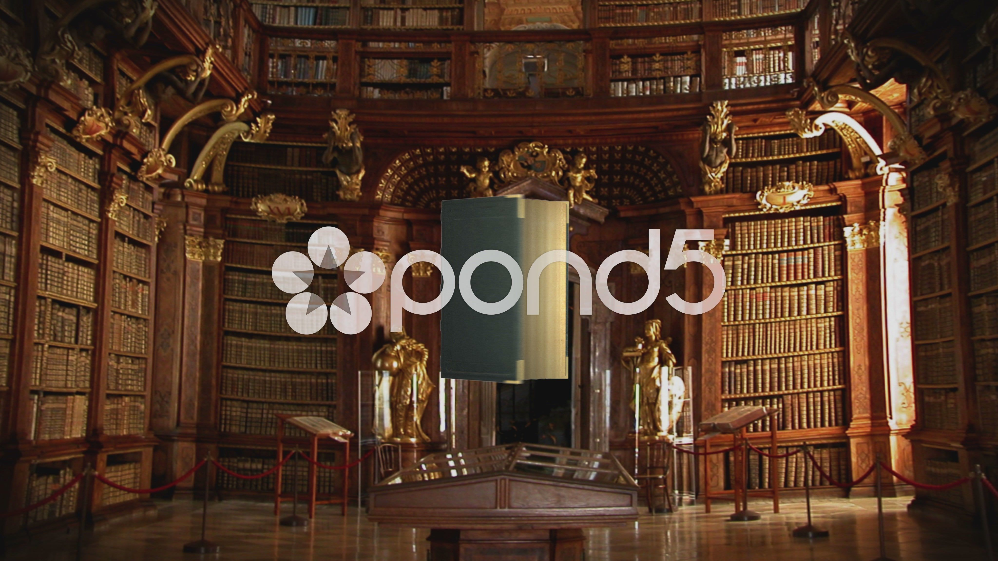 Old Books in library animation opening transition intro